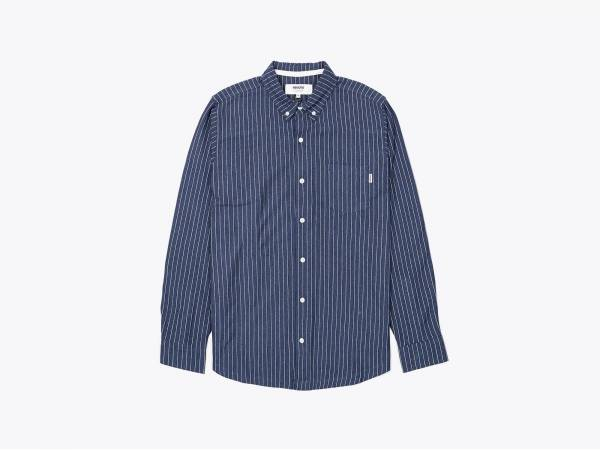 SHAW STRIPE - JERSEY BUTTON DOWN SHIRT