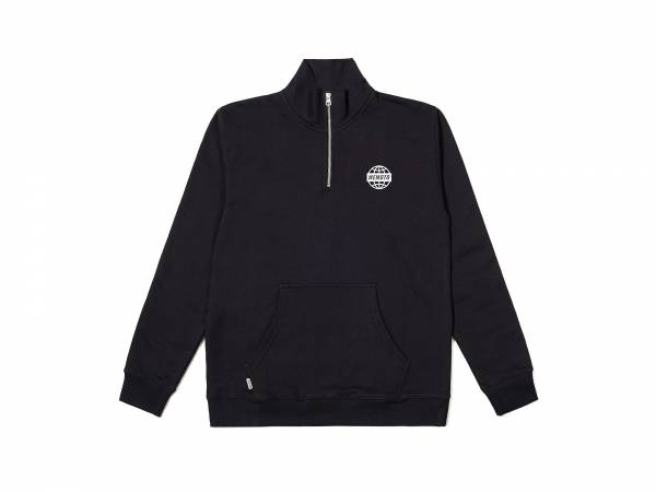 WORLD TROYER - PRINTED HALF ZIP SWEATSHIRT