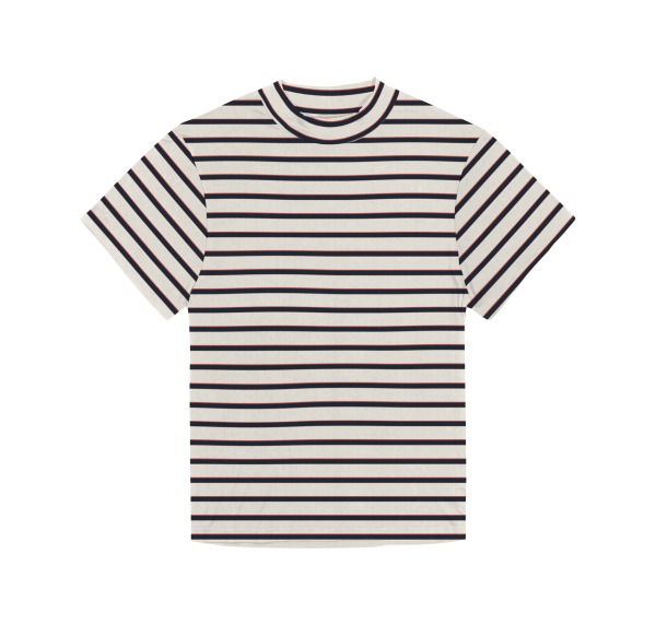 Foster Stripe - Blended Organic Cotton T-Shirt