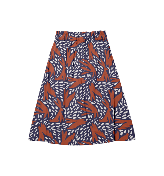 Tres Printed - Cotton Lyocell Skirt