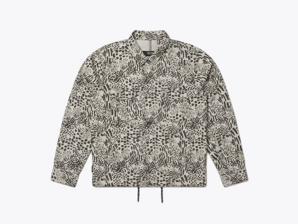 NASH PRINTED - SLUBSATIN COTTON TRAINER JACKET