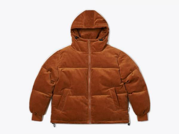 JAY - CORDUROY HOODED PUFFER JACKET
