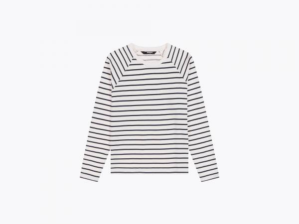 wemoto new picton sweatshirt offwhite navy blue