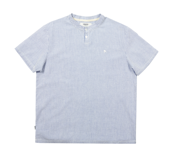 Powy - Cotton Seersucker Henley Shirt